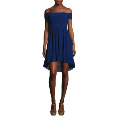 jcpenney.com | by&by Short Sleeve A-Line Dress-Juniors