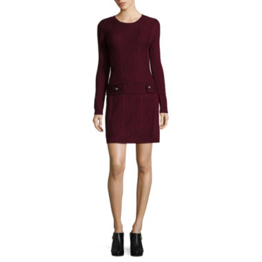 jcpenney.com | by&by Long Sleeve Sweater Dress-Juniors