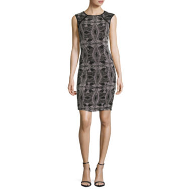 jcpenney.com | My Michelle Sleeveless Lace Sequin Bodycon Dress-Juniors