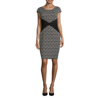 jcpenney.com | Signature by Sangria Short Sleeve Sheath Dress