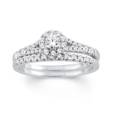 jcpenney.com | Womens 1/2 CT. T.W. White Diamond 10K Gold Bridal Set