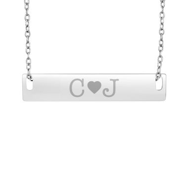 jcpenney.com | Personalized Sterling Silver Couple's Initial Bar Pendant Necklace