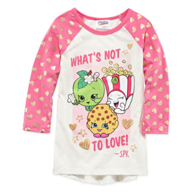 jcpenney.com | Shopkins Ls Jersey Girls Elbow Sleeve T-Shirt-Big Kid