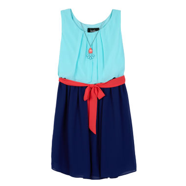 jcpenney.com | by&by girl Sleeveless Fit & Flare Dress - Big Kid Girls