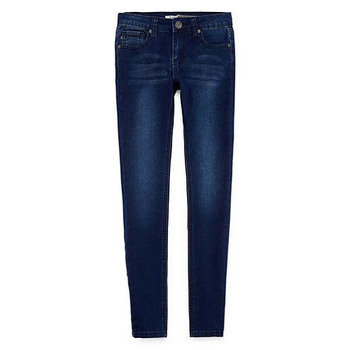 V Gold Studded Bow Pocket Skinny Jean