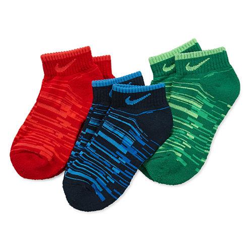 Nike3-Pk. Low Cut Socks- Boys X-Small
