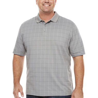 jcpenney.com | Van Heusen Short Sleeve Flex Printed Windowpane Polo Big and Tall