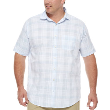 jcpenney.com | Van Heusen Short Sleeve White Washed Shirt- Big & Tall