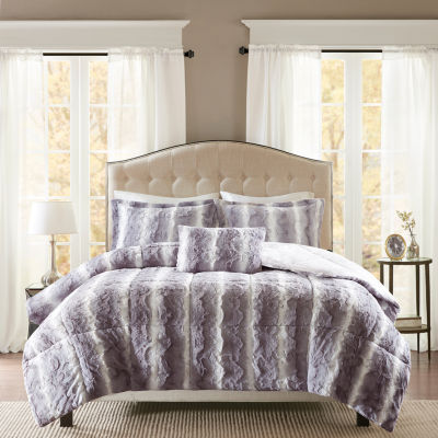 Madison Park Zuri Faux Fur Comforter Set Jcpenney