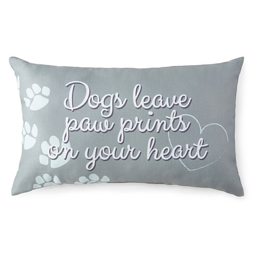 JCPenney Home™ Pawprints Decorative Pillow