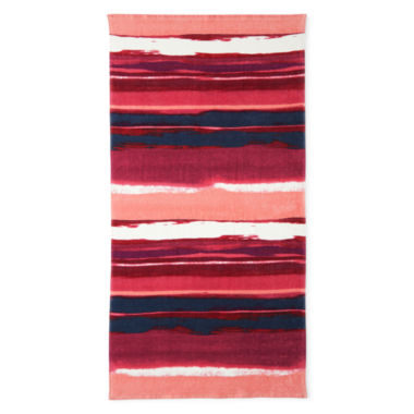 "jcpenney.com | Outdoor Oasis Sunset Stripe 30""x60"" Printed Beach Towel"