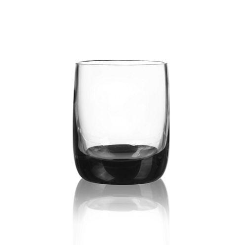 Qualia Glass Ebony 4-pc. Double Old Fashioned