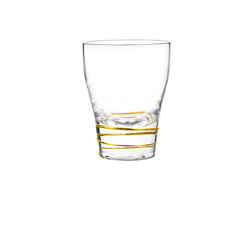 Qualia Glass Helix Gold 4-pc. Double Old Fashioned