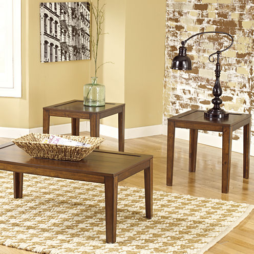 Signature Design By Ashley® Hollytyne 3pc Occasional Table Set