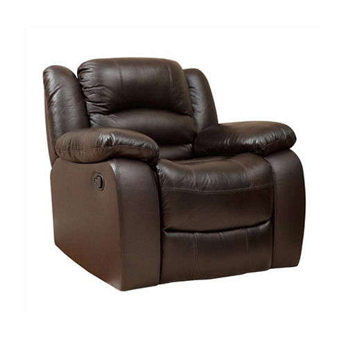 Emma Leather Pad-Arm Recliner