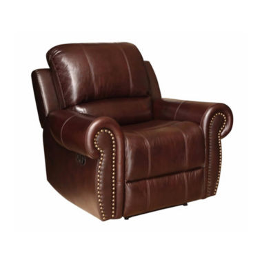 jcpenney.com | Charlotte Leather Roll-Arm Recliner
