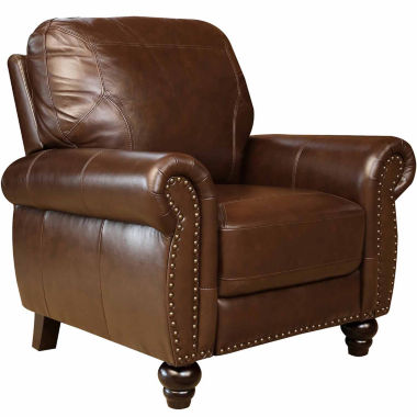 jcpenney.com | Alexa Leather Pushback Recliner