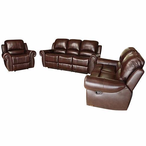 Charlotte Leather Sofa + Loveseat Set