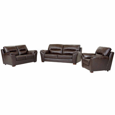 jcpenney.com | Eliana Leather Sofa + Loveseat Set