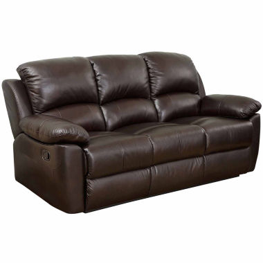 jcpenney.com | Paisley Leather Pad-Arm Reclining Sofa