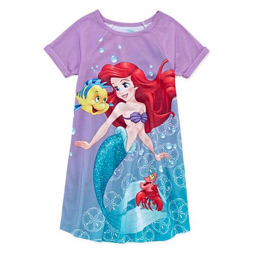 Disney Short Sleeve Ariel Princess Nightshirt