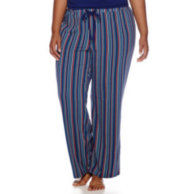 jcpenney.com | Liz Claiborne® Knit Sleep Pants - Plus