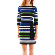 Liz Claiborne Striped Shift Dress