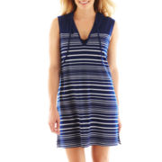 Wearabouts Striped Tunic Hoodie Cover-Up