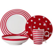 Red Vanilla Freshness Dinnerware Collection