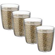 Kraftware Set of 4 Woven 14-oz. Glasses