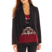 Bisou Bisou® Draped High-Low Jacket