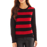 Bisou Bisou® Long-Sleeve Striped Sweater
