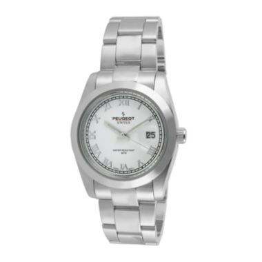 jcpenney.com | Peugeot® Womens Stainless Steel Bracelet Watch