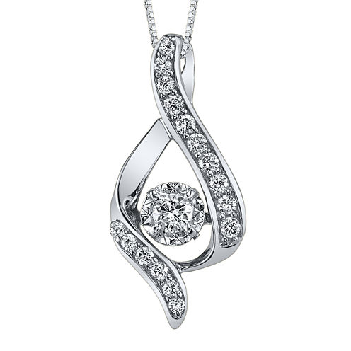 Sirena® 3/8 CT. Diamond 14K White Gold Infinity Pendant Necklace
