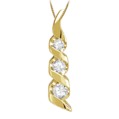 jcpenney.com | Sirena® 1/8 CT. Diamond 14K Yellow Gold Pendant Necklace
