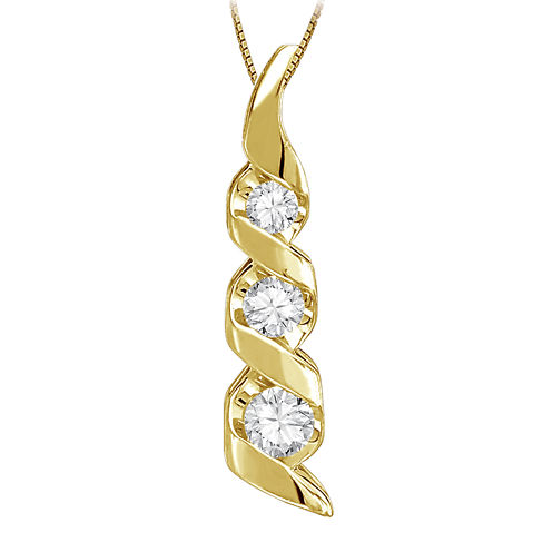 Sirena® 1/8 CT. Diamond 14K Yellow Gold Pendant Necklace