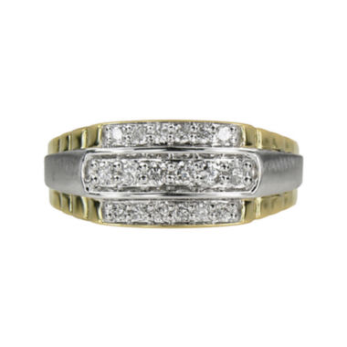 jcpenney.com | Mens 1/2 CT. T.W. Diamond 10K Yellow Gold Ring