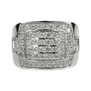 Mens 1½ CT. T.W. Diamond 10K White Gold Ring