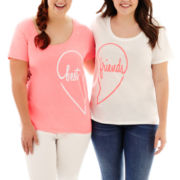 Arizona Short-Sleeve Best Friends Tees - Plus