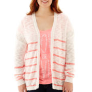 Arizona Long-Sleeve Open-Front Cardigan - Plus
