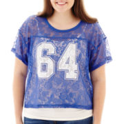 Arizona Short-Sleeve Lace Football Tee - Plus