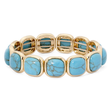 jcpenney.com | Monet® Simulated Turquoise Stretch Bracelet