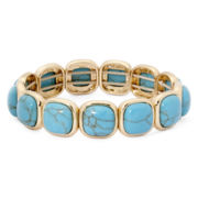 Monet® Simulated Turquoise Stretch Bracelet