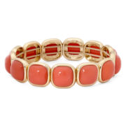 Monet® Orange Stone Gold-Tone Stretch Bracelet