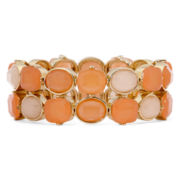Liz Claiborne® Peach and Gold-Tone Stretch Bracelet