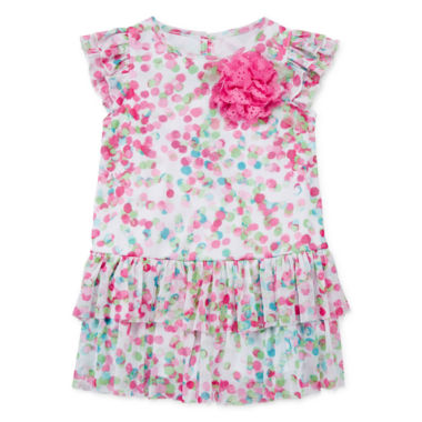 jcpenney.com | Marmelatta Short-Sleeve Ruffle Dress - Baby Girls 3m-24m