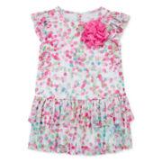 Marmelatta Short-Sleeve Ruffle Dress - Baby Girls 3m-24m