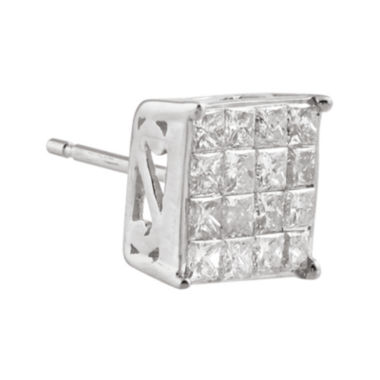 jcpenney.com | 3/8 CT. T.W. Diamond 10K White Gold Half Stud Earring