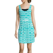 Portocruz® Sleeveless Tie-Dye Deep-Pocket Dress Cover-Up