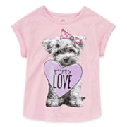 Okie Dokie® Short-Sleeve Tee - Toddler Girls 2t-5t
